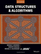 Book cover for Data Structures and Algorithms in Java, 6th Edition