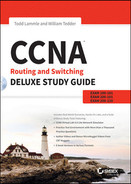 Cover of CCNA Routing and Switching Deluxe Study Guide: Exams 100-101, 200-101, and 200-120