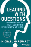 Book cover for Leading with Questions: How Leaders Find the Right Solutions by Knowing What to Ask, Revised and Updated