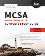 Cover of MCSA Windows Server 2012 R2 Complete Study Guide: Exams 70-410, 70-411, 70-412, and 70-417