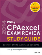 Cover of Wiley CPA excel Exam Review 2014 Study Guide, Business Environment and Concepts