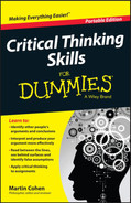 Cover of Critical Thinking Skills For Dummies