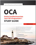 Cover of OCA: Oracle Certified Associate Java SE 8 Programmer I Study Guide: Exam 1Z0-808