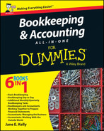 Cover of Bookkeeping and Accounting All-in-One For Dummies, UK Edition
