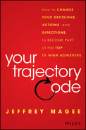 Cover of Your Trajectory Code: How to Change Your Decisions, Actions, and Directions, to Become Part of the Top 1% High Achievers