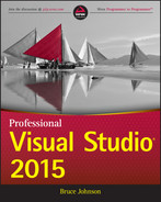 Cover of Professional Visual Studio 2015