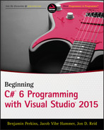 Cover of Beginning C# 6.0 Programming with Visual Studio 2015
