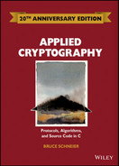 Cover of Applied Cryptography: Protocols, Algorithms and Source Code in C, 20th Anniversary Edition