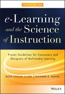 Cover of e-Learning and the Science of Instruction