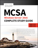 Cover of MCSA Windows Server 2016 Complete Study Guide, 2nd Edition