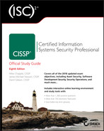 Cover of (ISC)2 CISSP Certified Information Systems Security Professional Official Study Guide, 8th Edition