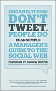 Cover of Organizations Don't Tweet, People Do: A Manager's Guide to the Social Web