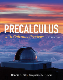 Precalculus with Calculus Previews, 6th Edition