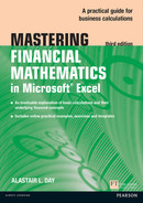Cover of Mastering Financial Mathematics in Microsoft Excel, 3rd Edition
