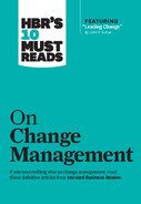 "Cover of HBR's 10 Must Reads on Change Management (including featured article ""Leading Change,"" by John P. Kotter)"