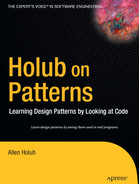 Cover of Holub on Patterns: Learning Design Patterns by Looking at Code