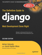 Cover of The Definitive Guide to Django: Web Development Done Right, Second Edition