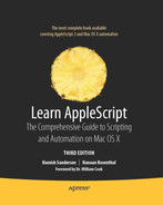 Cover of Learn AppleScript: The Comprehensive Guide to Scripting and Automation on Mac OS X, Third Edition