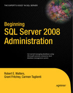 Cover of Beginning SQL Server 2008 Administration