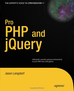 Pro PHP and jQuery [Book]