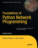 Cover of Foundations of Python Network Programming: The comprehensive guide to building network applications with Python, Second Edition