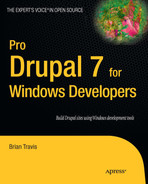 Cover of Pro Drupal 7 for Windows Developlers