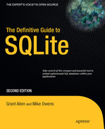Cover of The Definitive Guide to SQLite, Second Edition