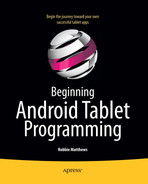 Cover of Beginning Android Tablet Programming: Starting with Android Honeycomb for Tablets