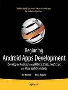 Cover of Beginning Android Web Apps Development: Develop for Android using HTML5, CSS3, and JavaScript