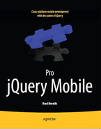Cover of Pro jQuery Mobile
