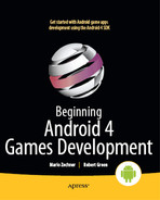 Cover of Beginning Android 4 Games Development