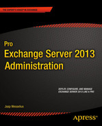 Cover of Pro Exchange Server 2013 Administration