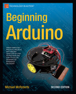 Cover of Beginning Arduino, Second Edition