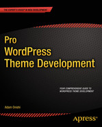 Cover of Pro WordPress Theme Development