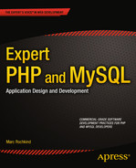 Cover of Expert PHP and MySQL: Application Design and Development