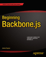 Cover of Beginning Backbone.js