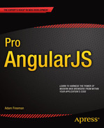 Book cover for Pro AngularJS