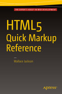 Cover of HTML5 Quick Markup Reference
