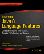 Cover of Beginning Java 8 Language Features: Lambda Expressions, Inner Classes, Th reads, I/O, Collections,and Streams