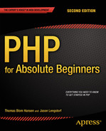 Cover of PHP for Absolute Beginners