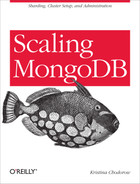 Cover of Scaling MongoDB