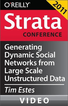 Generating Dynamic Social Networks from Large Scale Unstructured Data