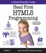 Cover image for Head First HTML5 Programming