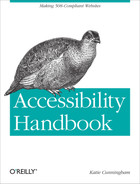 Cover of Accessibility Handbook