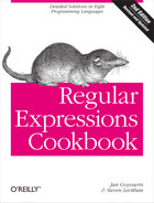 Cover of Regular Expressions Cookbook, 2nd Edition