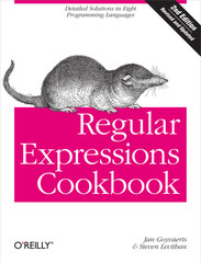 Regular Expressions Cookbook, 2nd Edition