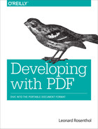 Cover of Developing with PDF