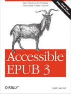 Cover of Accessible EPUB 3