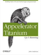Cover image for Appcelerator Titanium: Up and Running