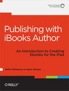 Cover image for Publishing with iBooks Author